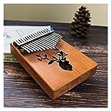 FXBXYLQ Tragbar Der 17-Key-Thumb-Klavier besteht aus Furnier hochwertigem hölzernem Mahagoni-Humaninstrument Musikalisches Geschenk (Color : Reindeer)