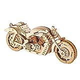 3D Holz Puzzle, Motorrad Modell-bausatz, Mechanischer Holzbausatz zu Bauen, DIY Montage Holzpuzzle Spielzeug, Bastelset, Geschenk aus Holz fur Erwachsene Männer Jugendliche