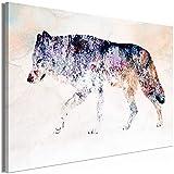 murando - Bilder Tiere 120x80 cm Vlies Leinwandbild 1 TLG Kunstdruck modern Wandbilder XXL Wanddekoration Design Wand Bild - Abstrakt Wolf wie gemalt g-A-0248-b-a