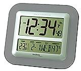 Technoline Jumbo-Funk-Wanduhr WS 8006 Kalender Temperaturanzeige (anthrazit)