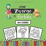 Lerne Zwerge zu färben: Malbuch für Kinder ab 4 Jahren | 18 einzigartige Malvorlagen für Zwerge für die Kleinen | 38 Seiten, 21,59 x 21,59