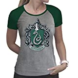ABYstyle - Harry Potter - Tshirt - Slytherin- Damen - Grau & Grün (M)