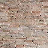 Wandverkleidung Steinoptik / Holzoptik - 3D Wandpaneele aus EPS Schaumstoff / Styropor - Kunststoff Steinpaneele (HD Printed) - Wandplatten / Wandverblender für Innen (Creme, Mischfarben)