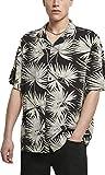 Urban Classics Herren Resort Hawaii-Hemd T-Shirt, Black/Frond, XXL