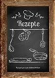 Rezepte - Rezeptbuch zum Selberschreiben: Mit Register (Inhaltsverzeichnis), DIN A4, Platz für 80 Rezepte