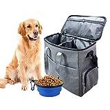 Hunde Katzen Hundecampingausrüstung 2 Aufbewahrungsbehälter für Lebensmittel zusammenklappbare Schüssel,von der Fluggesellschaft zugelassene Tragetasche,multifunktionaler Reisetasche für Haustiere