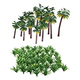 Modellbäume aus gemischtem Kunststoff,Modellbau Bäume,62pcs Gemischtes Bäume Modellbau