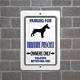 Lustiges Schild für Miniatur-Pinscher-Wachhunde, Metall, Aluminium, Hof, Zaun, Schild, Poster, Vintage-Stil, Heimdekoration