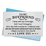 """Geburtstagskarte für den Freund, bedeutungsvolles Geschenk für den Freund, Männer, Gravur """"I Love You"""", Brieftaschen-Einsatz, Valentinstag, Vatertagsgeschenk, ideal fü"""