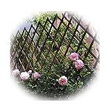 JIANFEI-weilan Erweiterter Freistehender Hölzerner Gitterzaun-Gartenschirm, Kostenlos Handy, Mobiltelefon Falten Haustier Barriere, Garten Partition Dekoration, 4 Größen (Size : 180X30CM)