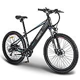 ESKUTE E-Bike E Mountainbike 27,5 Zoll Pedelec Voyager Elektrofahrrad mit 48V 10Ah versteckte Lithium-Akku 250W Heckmotor