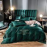 Bedding-LZ Bettwäsche 135 x 200 cm,Sommersalat Seide Quilt vierteilige Bettwäsche-J_1,5m Bett (4 Stück) (20 Sätze von 200 * 230)