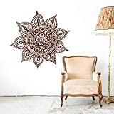 Blume Mandala Wandtattoo-Yoga Indien Wandtattoo-Mandala Aufkleber Bohemian Bohemian Style Schlafzimmer Dekoration Wandaufkleber A9 57x57CM