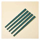 KSGH Green Porzellan-Essstäbchen, Chinesische Essstäbchen Bone China, Wiederverwendbare Keramik Essstäbchen Geschenk-Set Japanischer Sushi Happ-Hack-Stick Für Sushi green-5pair