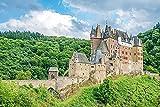 Jigsaw Puzzles für Erwachsene Kinder 1000 Stück Holzpuzzle Spiel für Geschenke Heimdekoration besondere Reise Souvenirs,Deutschland Eltz Burg Städte,29.5'x19.7'