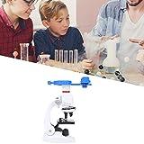 Fishawk Monokularmikroskop, Lehrmikroskop-Set, 1200-fach-Mikroskop, für Schüler Einfache Einrichtung Langlebige Kinder im Alter von 5 bis 8 Jahren