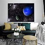 XIANGPEIFBH Planet Nebula Poster Wolken Weltraum Malerei Leinwand Bilder für Wohnzimmer Dekoration Küche Schlafzimmer Wohnkultur 40x50cm (16'x20) Ungerahmt