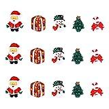 Ultnice Miniatur-Weihnachtszubehör, Kunstharz, Schneemann, Weihnachtsbaum, Candy C