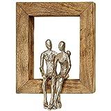 Home Collection Metall Wandobjekt Wandbild mit Holzrahmen Liebespaar Paar 30