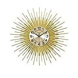 Clock Moderne minimalistische Uhr Metall Licht Luxus Wohnzimmer Wanduhr Persönlichkeit Atmosphäre Heimatuhr Kunst Sonne Dekoration W