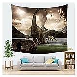 WFSH Tapestry Overlord Dinosaurier Tier Tapisserie Wand Hanging Schlafzimmer Wohnzimmer Tapisserie Schlafsaal Wanddekoration Tapisserie (Color : A, Size : 150cm*200cm)