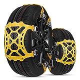 Zhina Schneeketten, 6 Stück Universelle Anti-Rutsch Schneeketten für Autos SUV PKW mit Reifenbreite 165-285 mm