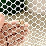 0,5 x 3 m Netze für Kinder, Sicherheitsrasen, Garten, Geflügelzaun, Huhn, robuster Kunststoff, Reh, Vogelzucht, Pflanzennetz, Fasanennetze, Garten, Balkon, Treppen, Kindersicherheitsnetz