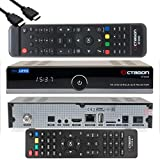 OCTAGON SF8008 4K UHD HDR Single Sat DVB-S2X Multistream Tuner HEVC Set-Top Box - Satellit Receiver, inklusive Zweitfernbedienugn & EasyMouse HDMI-Kabel