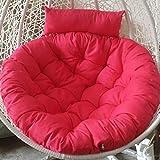 HGDM Papasan Stuhlkissen, Überfüllter Hängekorb Schaukelstuhl Kissen Verdicken Abnehmbare Bequeme Baumwolle Runde Stuhlauflage - D105cm (41 Zoll),Rose red