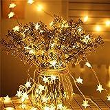 PPKZY 50 LED String Light Star Girlands Outdoor Fairy Lights Solarlampen für Garten wasserdichte Außenbeleuchtung Home Yard Weihnachten (Wattage : 5M 20LEDs)