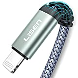 MFi Certified iPhone Charger Cable(6.6ft), [Never Rupture] LISEN Lightning Cable 2.4A Fast Charging iPhone Cord Compatible with iPhone 11 Pro/Xs Max/XR/XS/X/8/8 Plus/7/6/6 Plus/SE/5/5S, iPad Pro Air 2