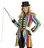 Hochwertige Rainbow Damen Uniformjacke Regenbogen Gardeuniform Gehrock Jacke Mantel Frack Karneval Kostüm, Größe:XL