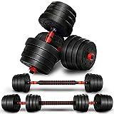 RE:SPORT 2 in 1 Hanteln Set 30 kg | Hantelset verstellbar | Kurzhantel & Langhantel | Sternverschlüsse & Verbindungsrohr
