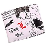 ZHOUBIN Geldbörse Anime Todesnotiz kurz pu Manga brieftasch münzfach Kreditkarte ausweis kartenhüllen Geldtasche Wallet Brieftasche portmonee
