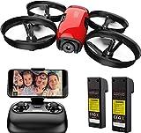 SANROCK U61W Drohne für Kinder, RC Quadcopter mit HD WiFi FPV Kamera, Unterstützt Höhe halten, Routenerstellung, Headless-Modus, EIN-Knopf Start / Landung, N
