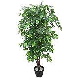 Leaf Artificial Tree/Plant Künstlicher Baum/Kunstpflanze, Kunststoff, Grün XL Buschy Ficus, 120 cm
