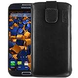 mumbi Echt Ledertasche kompatibel mit Samsung Galaxy S4 Hülle Leder Tasche Case Wallet, schwarz