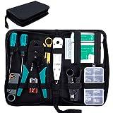 SGILE 12 in 1 Netzwerk Werkzeug Set für RJ45, RJ11, RJ12, Netzwerk Reparaturwerkzeuge, Netzwerk Kabeltester Kit, Patchkabel Tester, LAN Kabel Tester für DIY Haushalt Computer Wartung