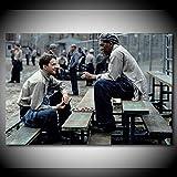 Poster Leinwandmalerei Gemälde Film The Shawshank Redemption Portrait Bild Gemälde Wandkunst Seide Leinwand Poster und Drucke Moderne Wohnaccessoires 60x80cm