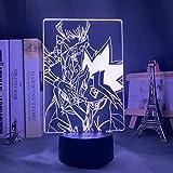 3D Lampe Anime Yugioh Handwerkskarte Spiel LED Nachtlicht Yu Gi Oh Für Schlafzimmer Dekor Geburtstagsgeschenk Bunte Nachtlicht 16 Farben Fernbedienung