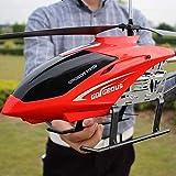 Ycco Riesen große RC Flugzeug Flugzeug im Freien 85CM RC Hubschrauber mit Gyro LED-Licht Funkfernsteuerung 3.5 Kanäle Hubschrauber Boy Toy Flugzeuge for Kinder Drone Anfänger leicht zu bedienen for Ki