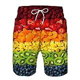 Herren Badehose Eltern-Kind-Outfit Sommer Badeshorts 3D Druck Interessanter Frucht Schnelltrocknend Hawaii Surf Schwimmhose Sporthose,A,Adult L