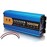 XYEJL Wechselrichter 3000w 4500w 6000w 8000w 12000w Reiner Sinuswellen Wechselrichter 12v 24v Dc Zu Ac 220v Mit LCD-Display, USB-Anschluss,für Wohnmobile, Auto,3000W-12V
