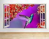 Wandtattoo Farben Kolibri Blumen Fenster Wand D Aufkleber Kinderzimmer 3D Viny