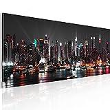 murando - Bilder New York 135x45 cm Vlies Leinwandbild 1 TLG Kunstdruck modern Wandbilder XXL Wanddekoration Design Wand Bild Panoramabild - Skyline NY Stadt City d-B-0087-b-a