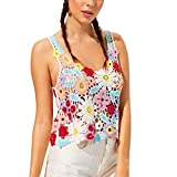 TUDUZ Damen Elegant Tie Dye Kurzarm Beiläufige Loose Fit T-Shirt Tops Bluse (L, Weiß)