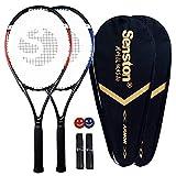 Senston Tennisschläger Damen Herren 2X Tennis Schläger Set mit Tennistasche,Overgrip,Vibrationsdämpfer