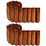 PlantBox Flexibler Kiefernzaun 200 + 200 cm (2 Stücke, kürzbar) aus Holz | als Steckzaun Rollborder | Beeteinfassung | Kanteneinfassung |Rasenkante oder Palisade | wetterfest imprägniert, Höhe:20
