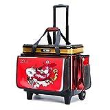 Fishing bag LHY Angel-Trolley mit harter Abdeckung, großes Rad, Fischschutz, Angelbox, Verdickung, Angelausrüstung, Tasche, langlebig (Farbe: Rot, Größe: A (Fahrzeugtyp))