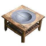 Feuerstelle mit BBQ Grill-Regal, AußenbrandgIT-Tisch mit doppeltem Holzregal eingebautes Feuerschalenfirma und Starkes Kiefern-Regal für Grill im Freien Heizung Hinterhof und G